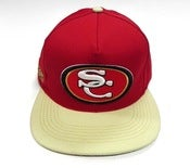 "Image of SO FRESH CLOTHING ""SC NINERS"" SNAPBACK (RED/TAN)"