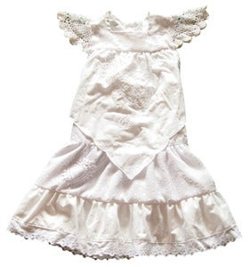 Image of size  4 white  ANGEL DRESS