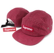Image of NEW! Supreme Box Logo Polka Dot Camp Hat Strapback