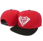 Image of NEW! Diamond Supply Co. Brilliant Snapback Hat Collection (Black/Red)