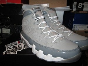 Image of Air Jordan IX (9) Retro &quot;Cool Grey&quot; 2012 
