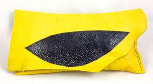Image of banana yellow mini clutch