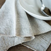 Image of light natural linen napkin