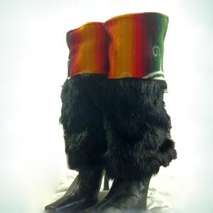 Image of Fur Boot Covers - Turtle Island