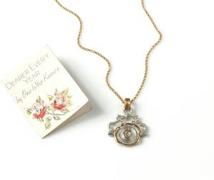Image of Mini Pivoting Personalised Wax Seal Necklace