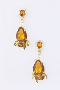 Image of Teardrop Jewel Cluster Earrings