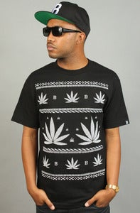 Image of Leaves Tee Black