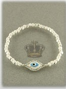Image of MATTE SILVER EVIL EYE