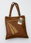 Image of S O L D -- mahogany ALL LEATHER tote!