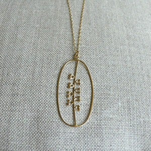 Image of seeds necklace - vermeil