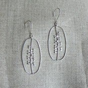Image of seeds earrings - silver