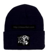 Image of Leopard Beanie ( Two sided)