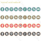 Image of minimal social media set - 4 colors