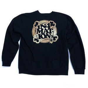 Image of IN4M - FYI CAMO CREW NECK FLEECE (BLK)