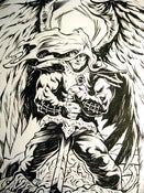 Image of VICTORIOUS ANGEL original inked drawing