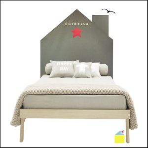 "Image of ""Home Star"" headboard // cabecero/frontal de fieltro (IVA INCL.)"