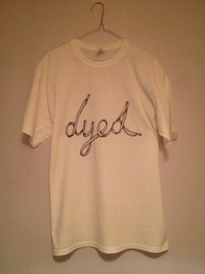 Image of Lace Writing T-Shirt - White