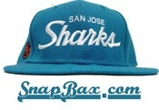 Image of Vintage Deadstock San Jose Sharks Teal Snapback Hat Cap