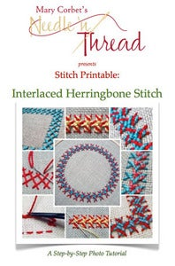 Image of Interlaced Herringbone Stitch Printable