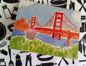 Image of Cards: 10-pack of Cupcake in San Francisco Notecards