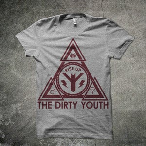 Image of Pyramid T shirt Cardinal Red on Grey **NEW**