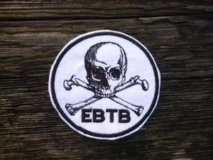 Image of E.B.T.B Skull Crossbones Biker Jacket Patch OMARINA Motorcycle Club (Everything but the Bike!)