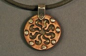 Image of Double sided Copper Sun/Tree of Life