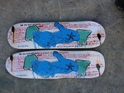 "Image of TIM KERR GUEST ARTIST ""BORN STUDENTS"" SKATEBOARD"
