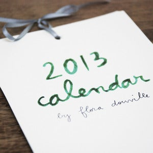 Image of 2013 illustrated calendar