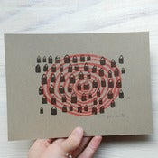 Image of Red houses - screenprint