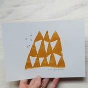 Image of Mountains of happiness - screenprint