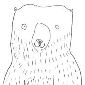 Image of Smiling bear - print