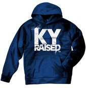 Image of KY Raised Navy / White Hooded Sweatshirt