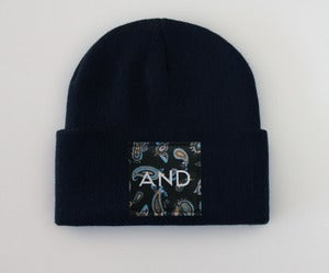Image of Navy Paisley AND Beanie