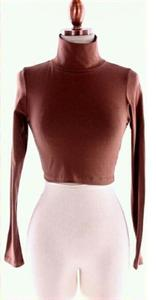 Image of LONG SLEEVE CROP TOP