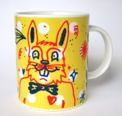 Image of &quot;Yellow Bunny&quot; hand painted mug by Pacolli