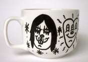 Image of &quot;Black Metal Love&quot; hand painted mug by Pacolli