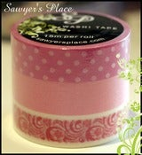 Image of Bianca Floral 3 Set - Japanese Washi Masking Tape - 3 Rolls 15mm x 15m