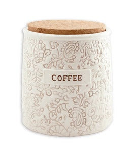 Image of batik coffee and tea canisters