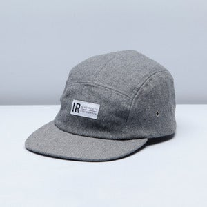 Image of 5 PANELS CAP GREY WOOL
