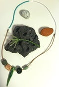 Image of Ceramic Necklace with Green Spike