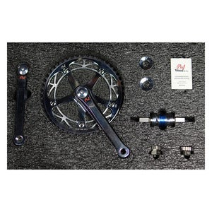 Image of Phil Wood Track Crankset (Silver)