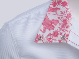 Image of White Twill/ Cerise Toile *NEW* - As seen in Chronicle of the Horse