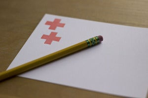 Image of swiss cross notecard