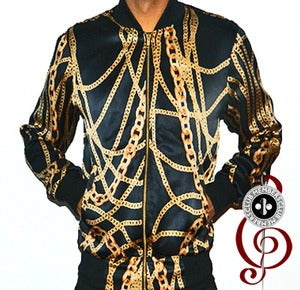 Image of Black Royalty Silk Members Club Jacket