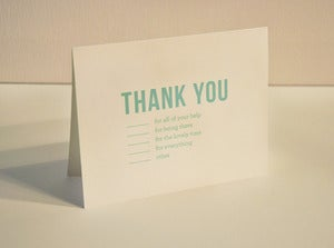 Image of Listed Thank You Note