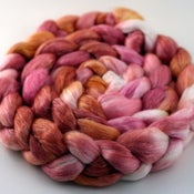 Image of Gold Roses - Merino/Tencel Wool Top/Roving