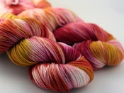 Image of Gold Roses - Superwash Merino Wool Sock Yarn