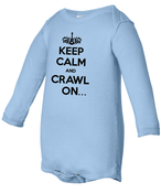 Image of BOYS- Light Blue American Apparel Long Sleeve Onesie