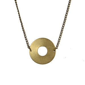 Image of Brass Circle Necklace